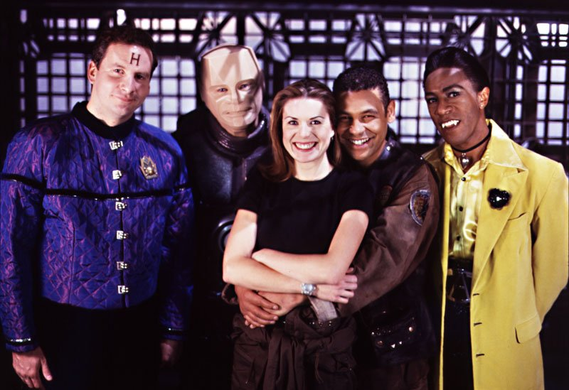 Rimmer, Kryten, Kochanski, Lister and Cat