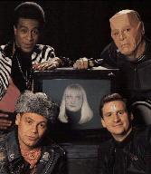 Cat, Kryten, Lister, Holly and Rimmer